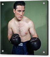 Billy Conn Posing In Boxing Attire Acrylic Print