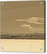 Biloxi's Pristine Beach In Sepia Tones Acrylic Print