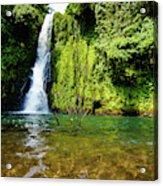 Bioko Waterfall Acrylic Print