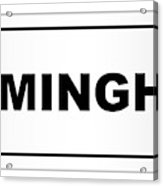 Birmingham City Nameplate Acrylic Print