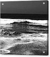Black And White Beach 7- Art By Linda Woods Acrylic Print