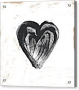 Black Heart- Art By Linda Woods Acrylic Print