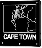Black Map Of Cape Town Acrylic Print
