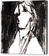 Black Side Portrait Acrylic Print