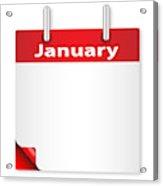 Blank January Date Acrylic Print