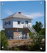 Blockhouse At Kingston Mills On The Rideau Canal Acrylic Print