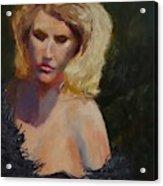 Blond in Black Acrylic Print