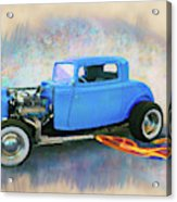 Blue 32 Ford Coupe Acrylic Print