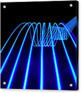 Blue Abstract Coloured Lights Trails Acrylic Print