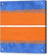 Blue And Orange Abstract Theme Iv Acrylic Print