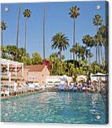 Blue-bottomed Pool Beneath Palm Trees Acrylic Print