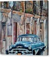 Blue car-Old Havana Acrylic Print
