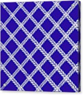 Blue Knit Acrylic Print