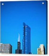 Blue Middle Acrylic Print