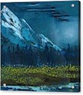 Blue Mountain Top Acrylic Print