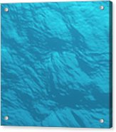 Blue Ocean Water Surface As Seen From Acrylic Print