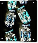 Blue Racers Acrylic Print