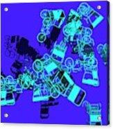 Blue Rickshaws Flying Acrylic Print