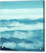 Blue Ridge Mountains Layers Upon Layers In Fog Acrylic Print