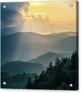 Blue Ridge Parkway Nc From Above Acrylic Print