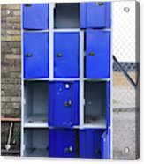 Blue School Lockers Acrylic Print