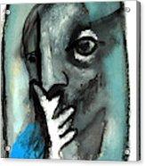 Blue Thinker Acrylic Print