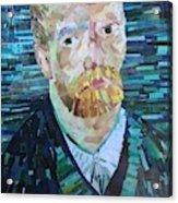 Blue Van Gogh Acrylic Print