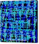 Blue Vibes 28 Acrylic Print