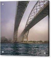 Blue Water Bridge Fog Acrylic Print