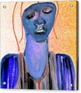 Blue Woman Acrylic Print