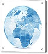 Blue World Globe Acrylic Print