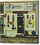 Blues Town Music Store Acrylic Print