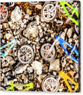 Bmx Pebble Race Acrylic Print