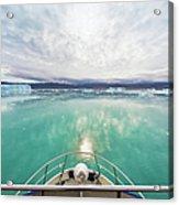 Boat Bow View Eqi Glacier Sermia Acrylic Print