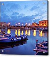 Boats In Sicily, Italy Acrylic Print