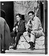 Bob Dylan & Johnny Cash Acrylic Print