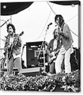 Bob Dylan & Neil Young Performing At Acrylic Print