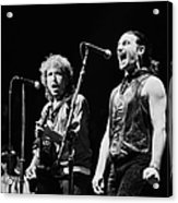 Bob Dylan Performs With U2 In Concert Acrylic Print