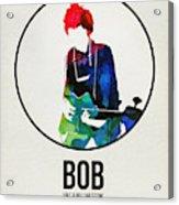 Bob Dylan Watercolor Acrylic Print