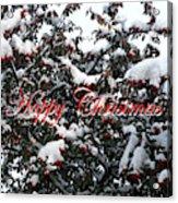 Happy Christmas 12 Acrylic Print