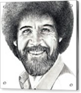 Bob Ross Acrylic Print