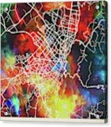 Bogota Colombia Watercolor City Street Map Acrylic Print