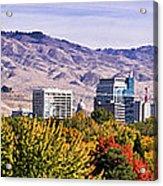 Boise City Skyline Fall Acrylic Print