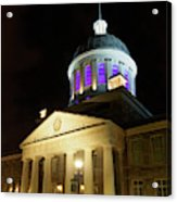 Bonsecours Market At Night In Old Montreal Acrylic Print