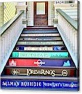 Book Stairs Acrylic Print