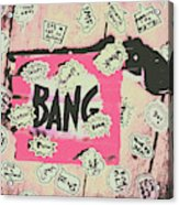 Boom Crash Bang Acrylic Print