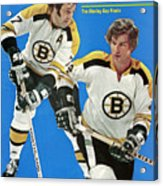Boston Bruins Phil Esposito And Bobby Orr, 1972 Nhl Sports Illustrated Cover Acrylic Print