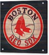 Boston Red Sox Barn Door Acrylic Print