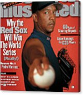 Boston Red Sox Pedro Martinez, 2000 Mlb Baseball Preview Sports Illustrated Cover Acrylic Print