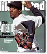 Boston Red Sox Pedro Martinez... Sports Illustrated Cover Acrylic Print